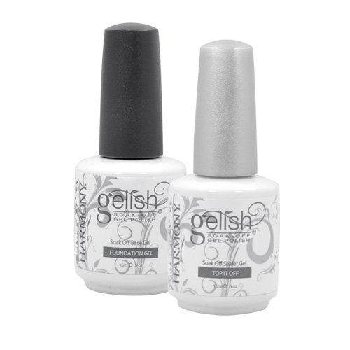 Reviews gelish 5 base top coat gel set harmony nail - Base coat nail salon ...