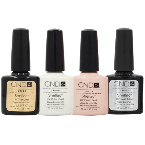 Pink Nail Polish Top Coat: CND Shellac French Manicure Kit Base Top Coat Color White